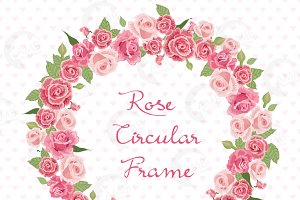 Clipart, Roses Bridal Wreath AMB-955