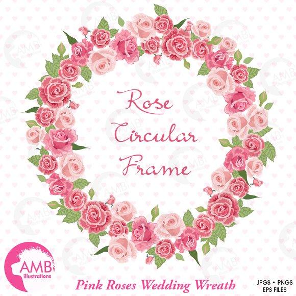Clipart, Roses Bridal Wreath AMB-955