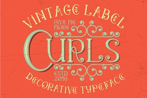 Curls vintage label typeface