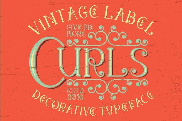 Curls vintage label typeface