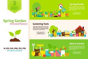 Spring Garden Horizontal Web Banners