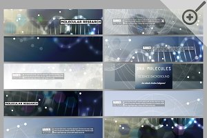 Bundle of modern vector banners