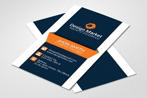 Vertical Business Card Template