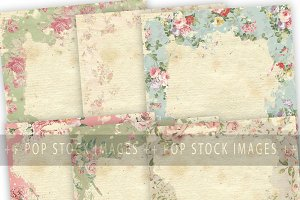 Shabby Chic Distressed Floral Papers
