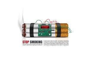 Cigarettes time bomb, Vector