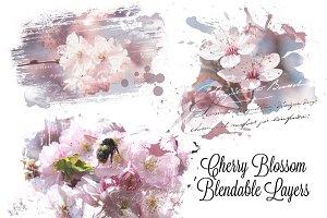 Cherry Blossom Blendable Overlays