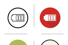 Battery icons. Vector