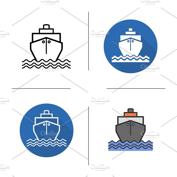 Ship icons. Vector - Icons