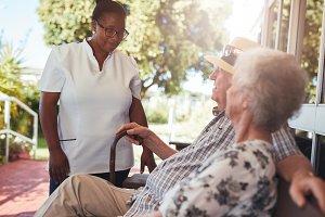 Carer looking after an elderly