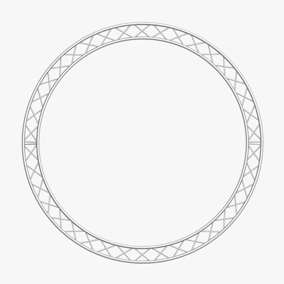 Circle Square Truss (400cm) in  - product preview 2