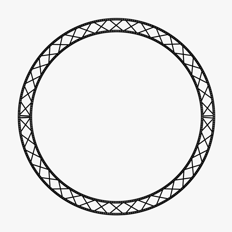 Circle Square Truss (400cm) in  - product preview 6