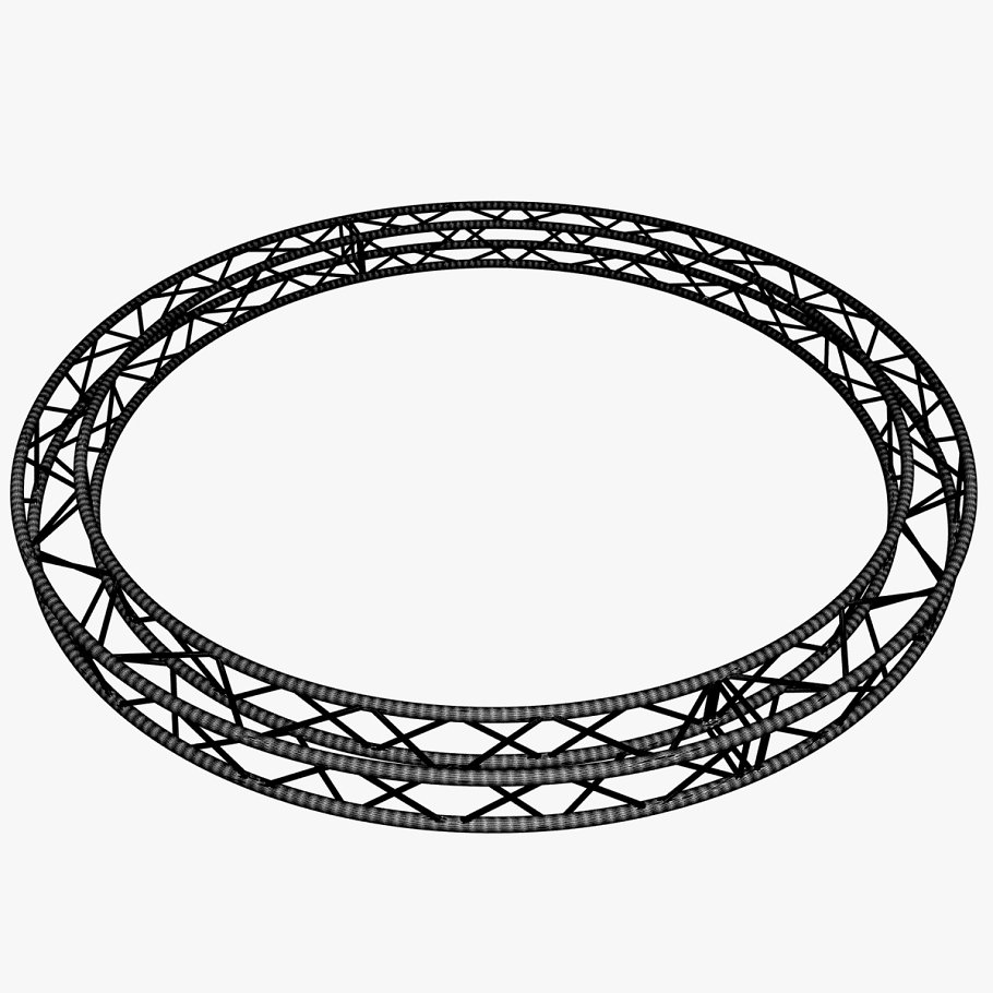Circle Square Truss (400cm) in  - product preview 7