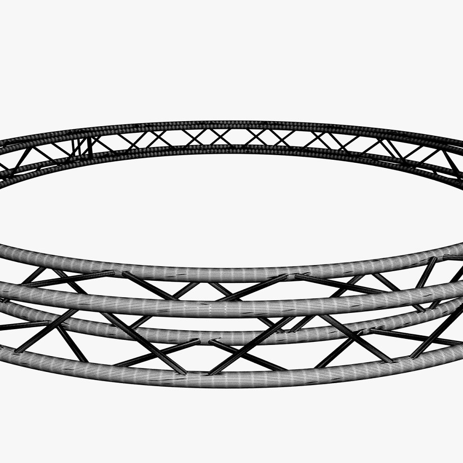 Circle Square Truss (400cm) in  - product preview 8