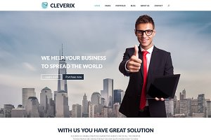 Cleverix | Corporate PSD template