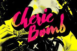 Cherie Bomb - Punk rock script font