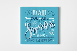 Dad You Are My Superhero Card