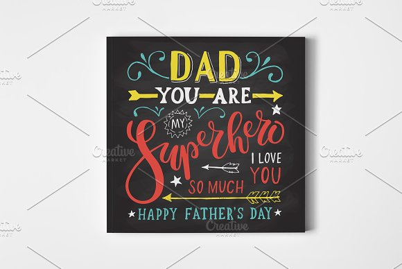 Happy Father's Day Lettering Card