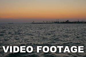 Sea Waves and Harbor Terminal