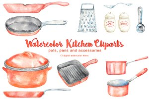 Red Kitchen Cliparts