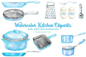 Blue Kitchen Cliparts