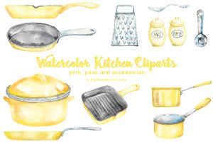 Yellow Kitchen Cliparts