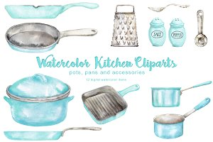 Vintage Kitchen Cliparts