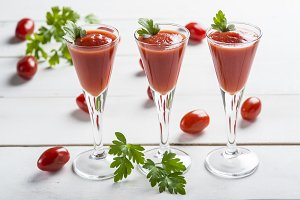 Tomato juice cocktails