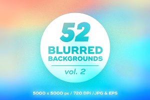 52 Vector blurred backgrounds