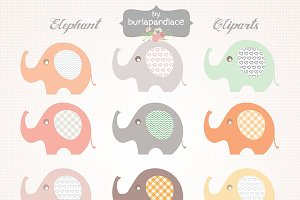 Baby Elephant clipart