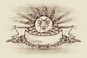 Vintage Sun Face