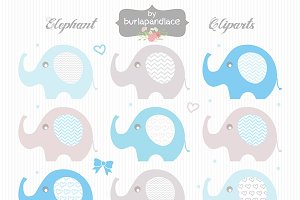 Baby boy elephant clipart