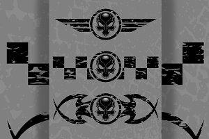 Skull Emblem Set