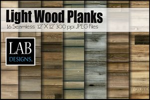 16 Light Wood Plank Textures