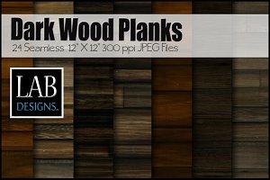 24 Dark Wood Plank Textures