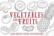 Vintage Vegetables & Fruits Kit