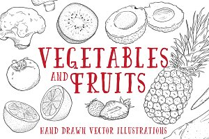Vintage Vegetables & Fruits Kit