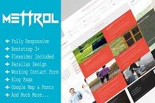 Mettrol - Responsive Portfolio Theme