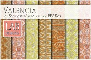 20 Valencia Woven Fabric Textures