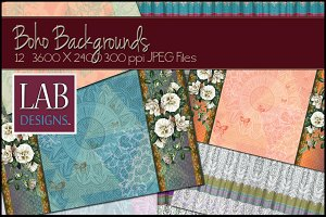 12 Bohemian Background Textures
