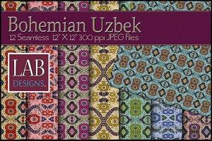 12 Bohemian Fabric Textures