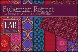 20 Bohemian Fabric Textures
