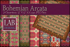 24 Bohemian Fabric Testures