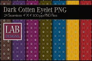 24 Dark Cotton Eyelet Fabric Texture