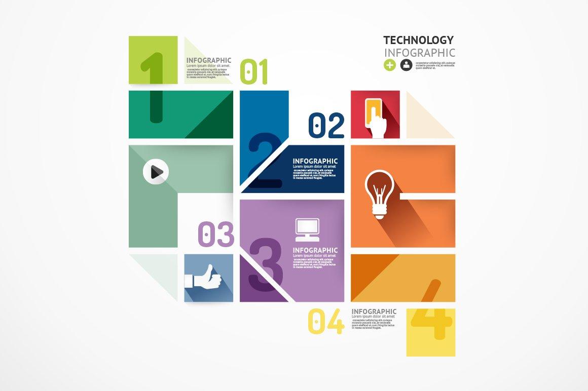 minimal style infographic template presentation templates