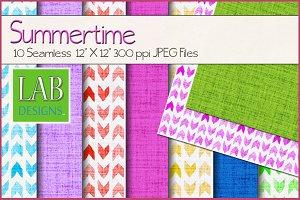 10 Summertime Print Textures