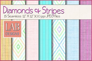 16 Diamond & Stripe Textures