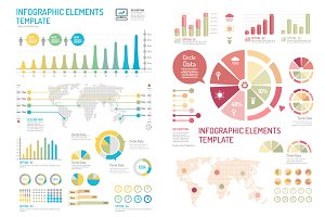 infographics set and Information