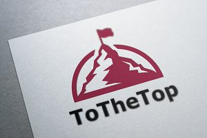 To The Top Logo Template