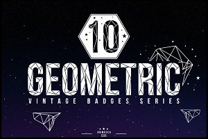 10 Geometric Vintage Badges