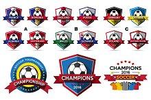 Vector of Soccer tournament Badge